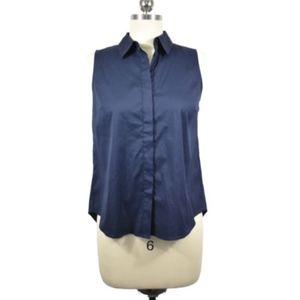 Ann Taylor Petites Blue Button Down Shirt Size XSP
